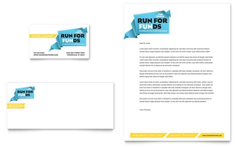 charity letterhead design charity run business card letterhead template word