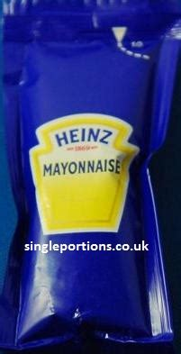 Mayonaise Sachet heinz mayonnaise single portion sachets