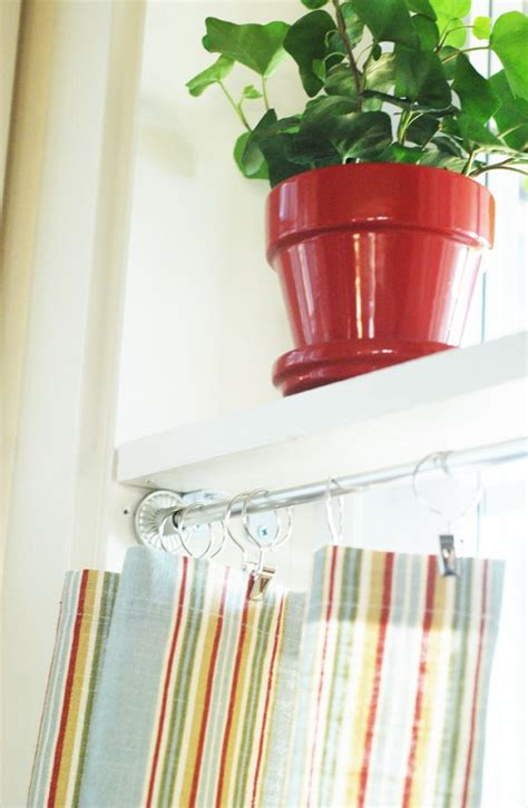 window shelf with curtain rod 1000 images about tension rod uses and other useful ideas