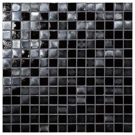buy daltile daltile glass horizons tile black sand mosaic gh09