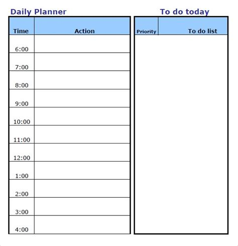 blank daily planner template 46 of the best printable daily planner templates