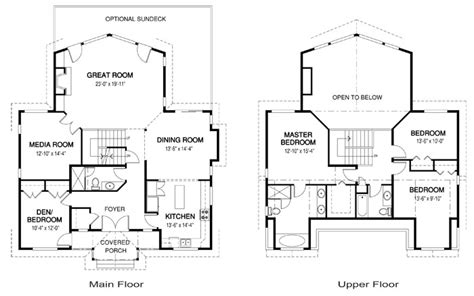 Suburban House Floor Plan | house plans strathcona linwood custom homes