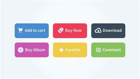 Button Flat 15 free flat designed ui buttons for front end developer 365 web resources