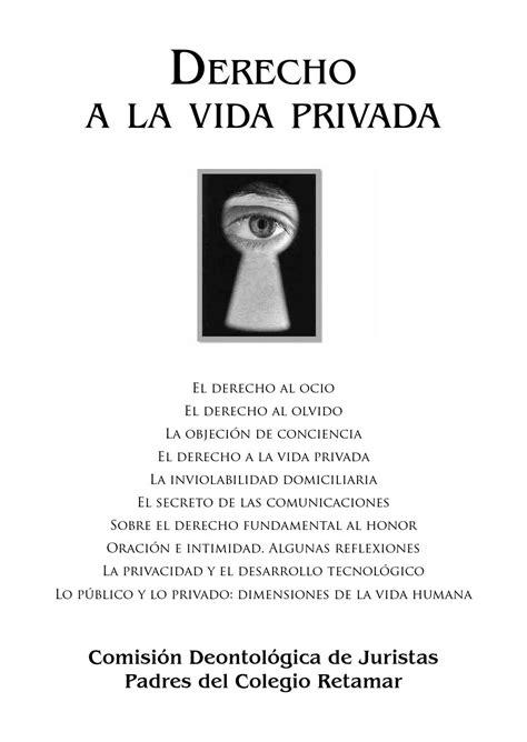Derecho a la vida privada (2016) by Retamatch - Issuu