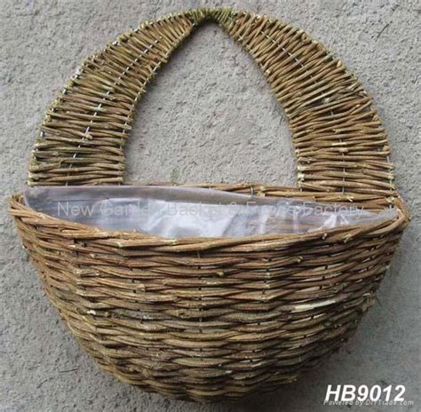 garden wall baskets rattan wall basket wall planter rattan hanging basket