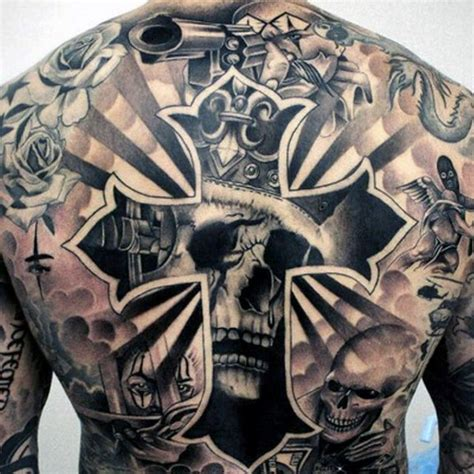 cross and skull tattoo 90 chicano tattoos for cultural ink design ideas