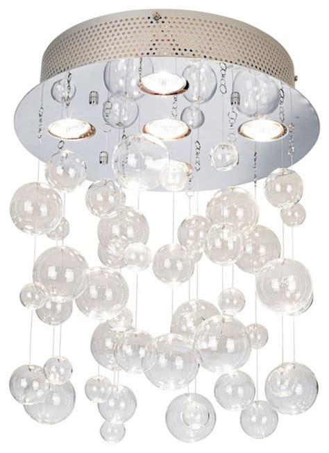 Bubbles Light Fixture Possini Bubbles 13 3 4 Quot Wide Ceiling Light Fixture Contemporary Flush Mount Ceiling