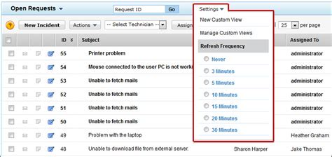disable request refresh timer troubleshooting