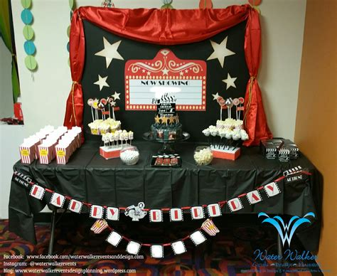 theater themed decor water walker events design planning