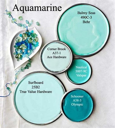aquamarine paint colors via bhg color inspirations