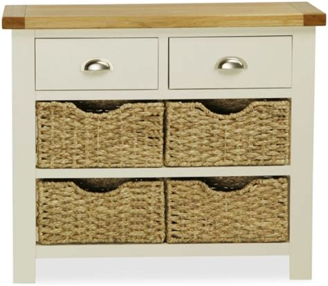 buy global home oxford painted console table with baskets