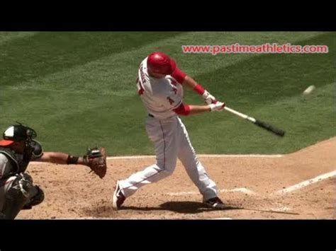 batting swing mike trout hitting mechanics slow motion baseball swing