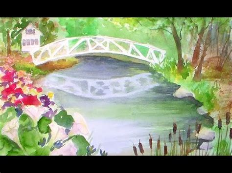 youtube watercolor tutorials somesville bridge beginner watercolor tutorial youtube