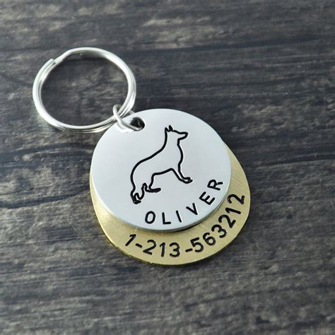 Handmade Id Tags - aliexpress buy personalized dogtags german shepherd