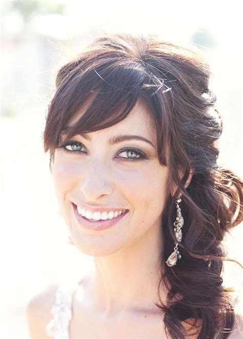 Wedding Hair With Bangs by 40 Beautiful Brides With Bangs Mon Cheri Bridals