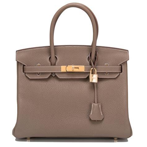Hermes Birkin Clemence Bags Minitas Branded hermes birkin bag 30cm etoupe clemence gold hardware world s best