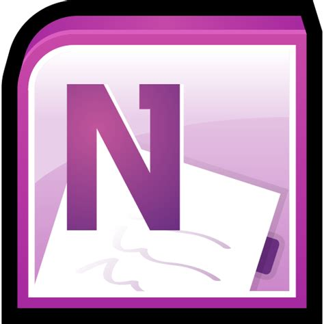 Office Notes Microsoft Office One Note Icon Office 2010 Icons
