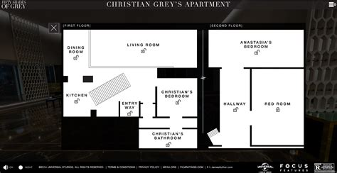 Christiangreysapartment by Christian Grey Apartment Floorplan Film And Furniture