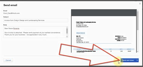 sle invoice email message how to email sales invoices in quickbooks online