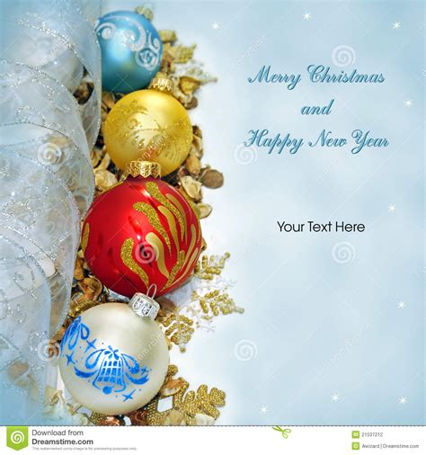 merry christmas  happy  year greeting card stock photography image