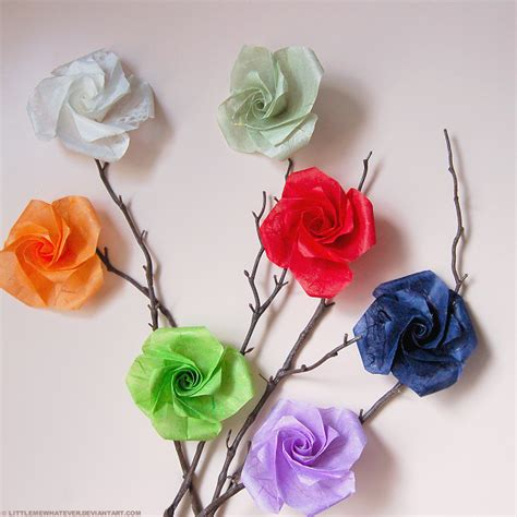 Buy Origami Roses - origami roses by littlemewhatever on deviantart