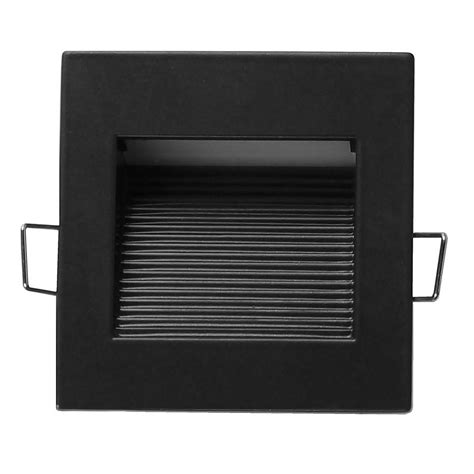 Led Step Lights Outdoor Nicor Square Black Indoor And Outdoor Integrated Led Landscape Step Light Stq 10 120 Bk The