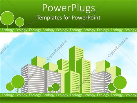 Powerpoint Template Eco Friendly Green City With Green Eco Friendly Ppt Templates Free