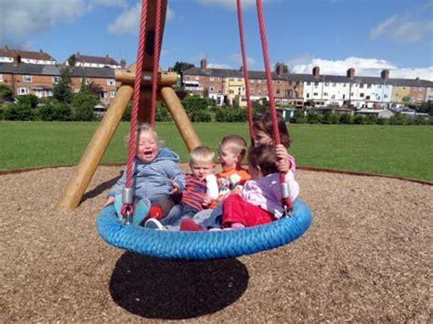 large round swing fun on the big swing alice palace