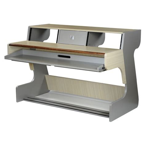zaor miza 88 studio desk grey oak at gear4music