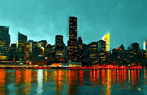 painting new new york city new york skyline painting nyc painting