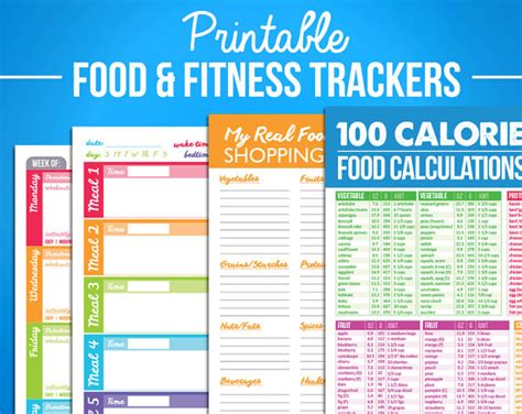 printable crossfit journal printable food fitness diary journal trackers digital pdf