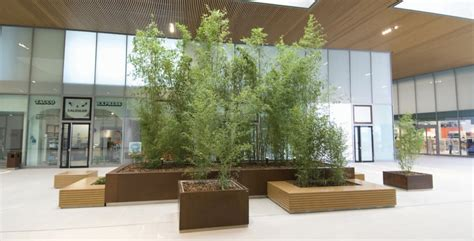 fioriere per interni 105corten wood fima arredo arredo urbano reggio