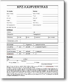 Kaufvertrag Auto Zum Ausf Llen by Auto Kfz Kaufvertrag Vorlage