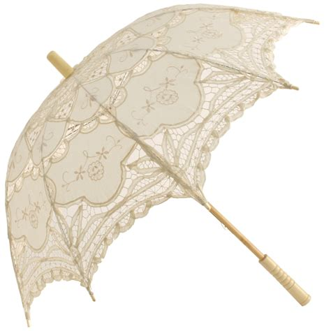 Umbrella Creme abigail lace parasol from chrysalin umbrellas