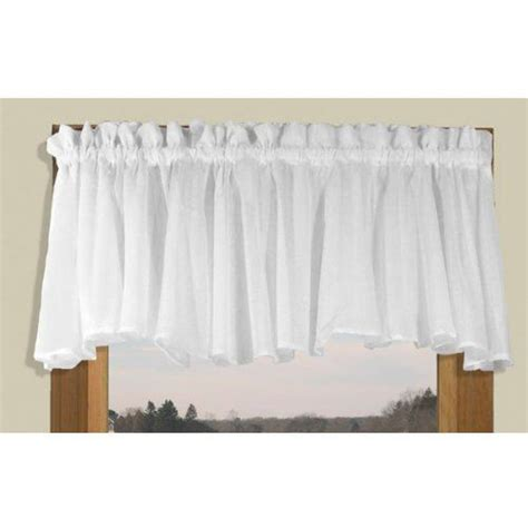 wide pocket valance curtain 42 quot wide white sea glass semi sheer full bodied insert