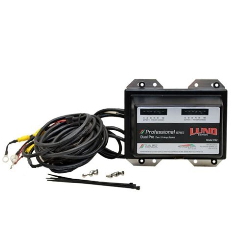 boat dual battery charger lund 1984701 dual pro ps2 professional 2 bank 15a 12 24v