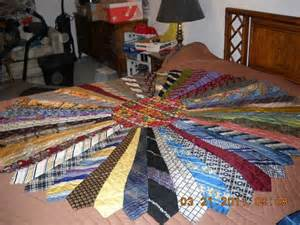 quilt made out of ties sewing