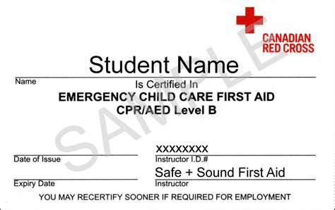aid certificate template emergency child care aid coquitlam aid
