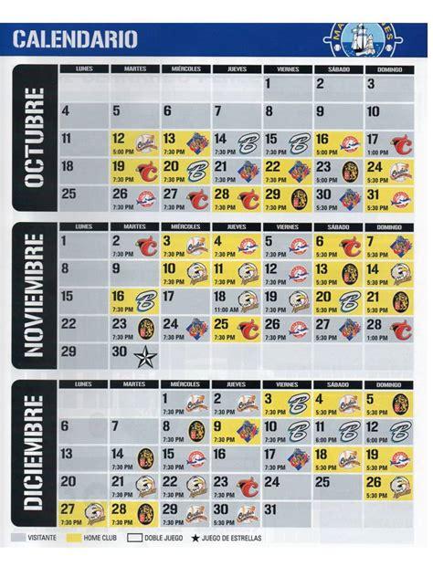 Calendario De Juegos Calendario De Juegos Temporada 2010 2011 Navegantes