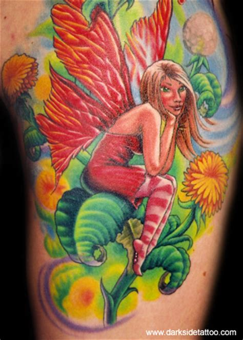 new school fairy tattoo looking for unique wildlife tattoos tattoos dandelion