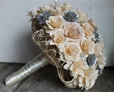Not Just Flowers But Wooden Flowers by Pics Of My Wood Flower Bouquets Weddingbee