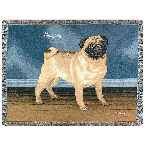 pug throw a plus 174 personalized pug throw 170883 personalized gifts at sportsman s guide