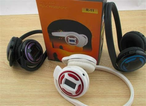 Jual Headset Sport Mp3 jual beli sport mp3 headphone with fm radio r11 baru headset aerial7