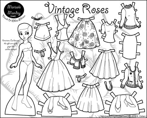 vintage coloring pages pdf marisole monday vintage roses paper thin personas