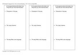 themes in the crucible worksheet the crucible character themes and language by tesenglish