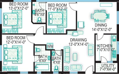 Vastu Floor Plans South Facing Vastu Floor Plans