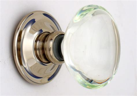 glass door knobs oval glass door knobs