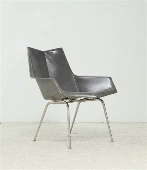 Paul Mccobb Origami Chair - low paul mccobb origami armchair in grey at 1stdibs