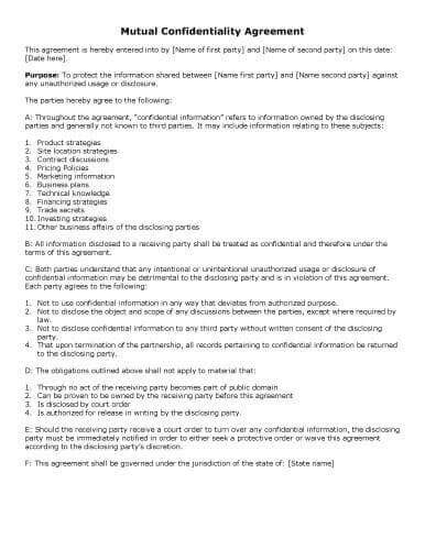 31 Sle Agreement Templates In Microsoft Word Av Service Contract Template