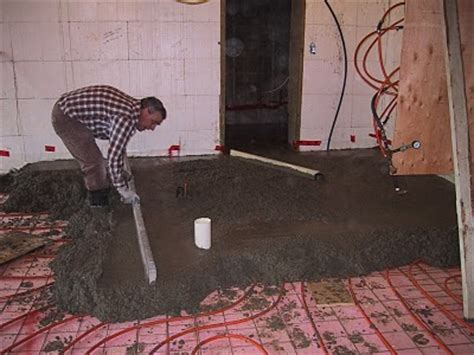 basement floor heating options in floor heating house building